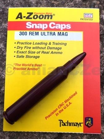 """Cvičný (školní) náboj 300 REM ULTRA MAG - A-Zoom (ITEM 12263)  .300 Rem Ultra Magnum A-zoom ITEM 122631ks(www.pachmayr.com)Excelentní kovový cvičný náboj pro""""suchou"""" střelbu"""
