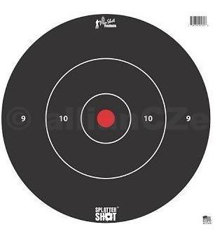 "Terč - Pro-Shot Products Splatter®Shot 12"" Bullseye / 5 ks - bílý - 30x30cm Pro-Shot Products"