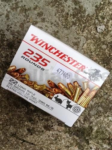 22 LR HPE Winchester 36gr - 235ks kompletní náboje 22 LR Winchester® HPE 235 Product Symbol: 22LR235HPE36gr / 2
