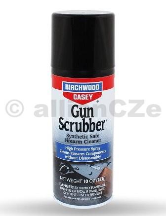Čistící přípravek BirchwoodCasey Gun Scrubber® Firearm Cleaner - 283g spray Gun Scrubber® Firearm CleanerITEM: 33340Aerosol - tlaková nádoba s obsahem 10 oz. - 283 g.Gun Scrubber® je rychle se odpařující přípravekpro čištění zbraní