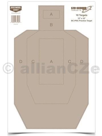 "Terč - Eze-Scorer™ Birchwood Casey 12 x 18"" BC IPSC Practice Target 45 x 30 cm - 1ks Eze-Scorer™ 12"" x 18"" BC BC IPSC Practice TargetITEM: 37018Terč pro cvičnou střelbu IPSC o rozměru 30x45 cm pro zásilky pouze po 5ks"