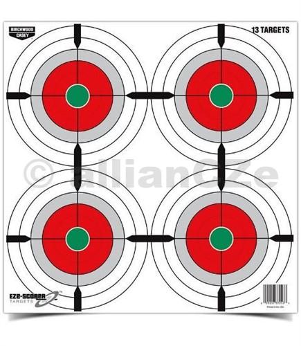 """Terč - Eze-Scorer™ Birchwood Casey 12"""" Multiple Bull's-Eyes - 1ks 30x30cm terč papírovýEze-Scorer™ 12"""" (30 x 30 cm)Multiple Bull's-Eyes Paper TargetITEM: 37255Kvalitní papírové terče 30x30 cm pro cvičnou střelbuna vnějších i vnitřních střelnicích.tématika - kruhy EZECena uvedena za kus - odběr po 10 kusech - na prodejně je možné odběr v libovolném počtu. Prodej MO/VO"""