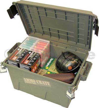 AMMO Crate Utility Box - plastový kufr na střelivo - MTM ACR7-18 - zelený MTM CASE-GARDACR7 Ammo Crate Utility BoxBarva: Army Green (zelená)rozměr vnější (v/š/h): 43/23/27 cmrozměr vnitřní (v/š/h): 31