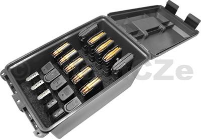 Tactical Magazine Can - TMCLE kufr na 20 ks různých typů zásobníků - MTM - černý MTM Tactical Magazine CanMULTI MAG CANTMCLEmade in USAITEM: TMCLE - blackmasivní plastový box v černéé barvě s černým držákem a klipy