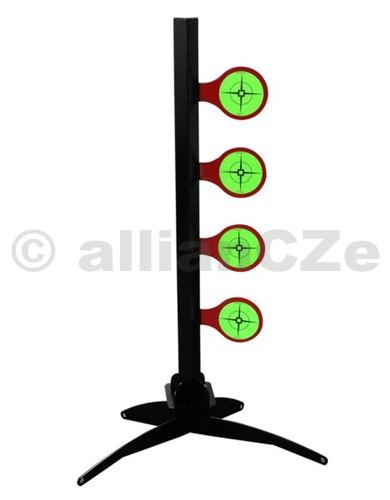 Terč - World of Targets® Airgun Dueling Tree Target Stand .177    World of Targets® Airgun Dueling Tree Target Stand ITEM: 47417 Lehká přenosná sada terčového systému pro střelbu ze vzduchových zbraní ráže .177 (4
