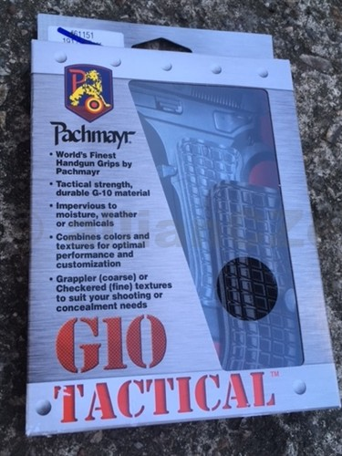 Pachmayr® G-10 Tactical Pistol Grips - CZ75 Compact Gray/Black Grappler Pachmayr G-10 Tactical Pistol Grips CZ75 Compact Gray/Black GrapplerITEM: 61115střenky pro pistole 1911 ze super tvrdého odolného G-10 materiálu