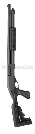 """BROKOVNICE REMINGTON 870™ Express® TACTICAL with BLACKHAWK! Spec Ops II 12GA BROKOVNICE REMINGTON 870™ Express® TACTICAL with BLACKHAWK! Spec Ops II 12GAorder no. 81404Oblíbená pumpa 870 v černém matu s 18"""" hlavní od Remingtonu v kabátě BLACKHAWK!"""