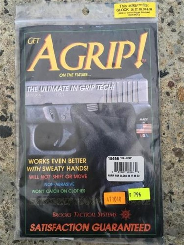 Grip nalepovací - Brooks Tactical System AGrip Black GLOCK 26