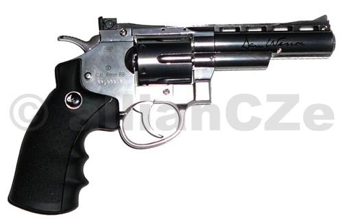revolver ASG Dan Wesson 4'' Stainless (CO2) ASG Dan Wesson 4'' CO2 StainlessPrvní celokovový revolver na trhu se špičkovým spracováním
