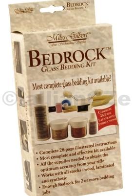 """Bedrock Glass Bedding Kit - sada pro sklovitou výplň pažeb MG-190274 Bedrock Glass Bedding Kit MG-190274- umožňuje vytvořit si ve Vaší zbrani kvalitní glass bedding (kompletní zpevnění uložení """"vnitřností"""" zbraně v pažbě"""
