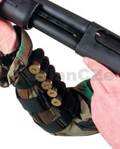 Návlek na předloktí - BLACKHAWK Shotshell Holder Pro Shooters Forearm Shotshell Holder Návlek na předloktí střelce (na pravou nebo levou ruku)pro uchycení až osmi brokových patron do elastických poutek