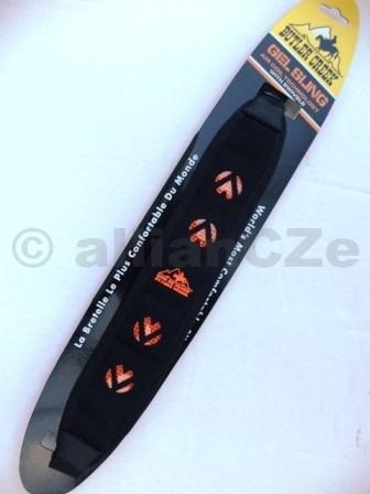 popruh na zbraň Butler Creek - dvoubodý - Gel Sling - Black BUTLER CREEK Gel Sling23700 - Blackčerná + oranžové prvkykvalitní řemen na pušky s gelovým polstrováním