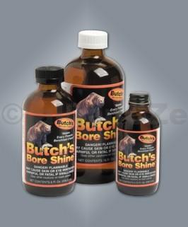 Čistící přípravek na vývrt hlavně - Butch's Bore Shine 113 ml Butch's Bore Shine - 4 oz - 113 mlITEM: 02937Originální čištění pro všechny vývrty zbraní.Toto neabrasivní chemické rozpouštědlo je speciálně vyvinuté k odstranění všech forem povýstřelových splodin ve vývrtech