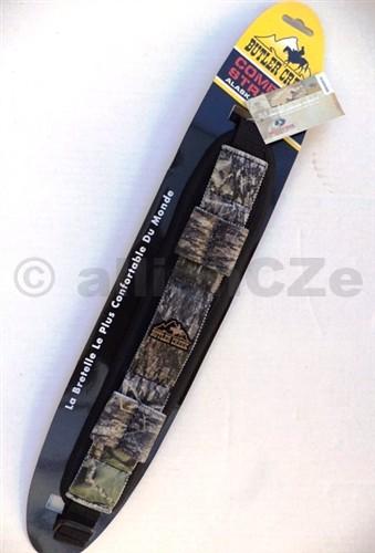 popruh na zbraň Butler Creek - dvoubodý - Mossy Oak Break Up BUTLER CREEK Comfort Stretch Firearm Slings80037 - Mossy Oak Break Up - SCčerná + maskovanákvalitní řemen na pušky s polstrováním