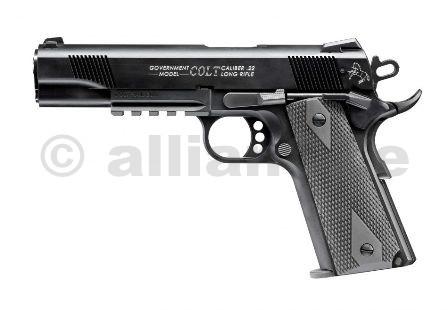 Pistole Colt 1911 A1 .22LR - model Rail Gun Samonabíjecí Long Rifle Pistole Colt 1911 A1 - RailGunv ráži .22LRITEM: 2772906s odlehčeným závěrem pro střelbu nízko-laborovanou municí1x zásobník na 12 ran