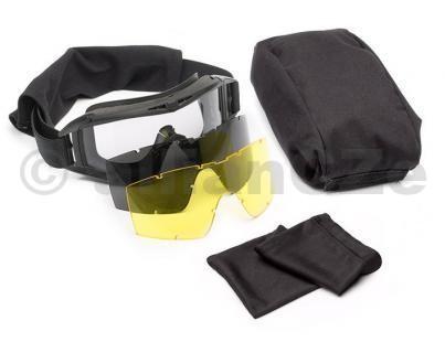 brýle střelecké - Revision Desert Locust® Goggle System - Black frame / 3 lenses REVISION DESERT LOCUST® Goggle System Black frame / rámClear