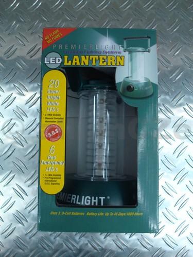 svítilna PREMIERLIGHT LANTERN 60 lum voděodolná svítilna PREMIERLIGHT se svítivostí 60 lumenů s 20 led diodamia s6 led diodami červené barvy