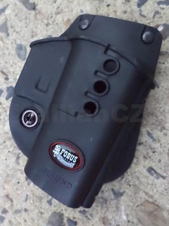 """POUZDRO opaskové FOBUS GL43-ND (GLOCK 43) FOBUS GL-43 NDKvalitní plastové pouzdro """"s pádlem"""" za opasek pro Glock 43Odkaz na výrobce: http://www.fobusholster.com/"""