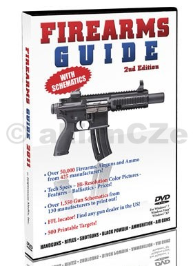 FIREARMS GUIDE 2nd Edition new for 2011 - DVD DVD FIREARMS GUIDE 2nd EditionITEM:  13741Originální DVD se schématy více než 1550 druhůzbraní od 130 výrobců z USA a EVROPY obsahuje dále:FFL lokátor