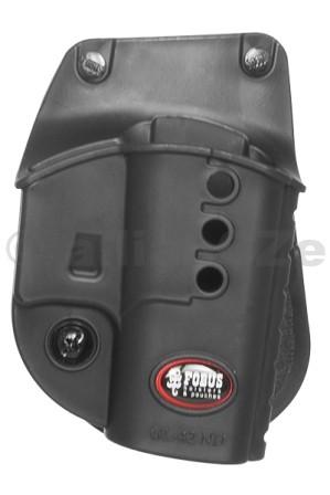 """POUZDRO opaskové FOBUS GL42-ND (GLOCK 42) FOBUS GL-42 NDKvalitní plastové pouzdro """"s pádlem"""" za opasek pro Glock 42Odkaz na výrobce: http://www.fobusholster.com/"""