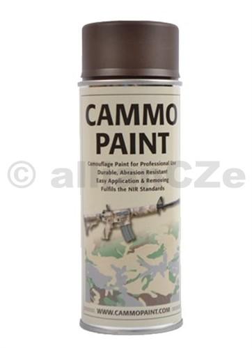 Barva maskovací - CAMMO PAINT by GLOMEX 400ml spray - HNĚDÁ CAMMO PAINT Hnědá - brown400ml sprayBarvy CAMMO PAINT jsou určeny jak k profesionálnímu využití v armádě