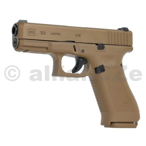 Pistole GLOCK 19X 9mm Coyote nPVD Samonabíjecí Pistole