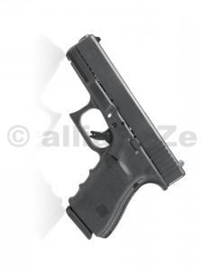 Pistole GLOCK 19 Gen4 9mm PARA BLACK Glock 19 Gen49mm (9x19)Technické parametryRáže 9x19 Délka závěru 174 mm Výška 127 mm Šířka 30 mm Vzdálenost mezi mířidly 152 mm Délka hlavně 102 mm Kapacita zásobníku (standard) 15 Hmotnost bez zásobníku 595 g Hmotnost prázdného zásobníku 70 g Hmotnost plného zásobníku ~255 g Odpor spouště ~2