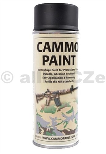 Barva maskovací - CAMMO PAINT by GLOMEX 400ml spray - ČERNÁ CAMMO PAINT Černá - black400ml sprayBarvy CAMMO PAINT jsou určeny jak k profesionálnímu využití v armádě