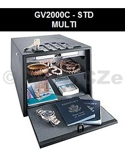 bezpečnostní schránka GunVault MULTI 2000C STANDART Bezpečnostní ocelová schránka GunVaultMULTI GV2000C-STD (STANDART) v USA velmi oblíbený model bezpečného úložiště