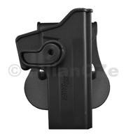 POUZDRO opaskové IMI pro nošení zbraně SIG SAUER P226 IMIZ1070Puzdro s pádlem Plastové pouzdro s rotačním pádlem vyrobené z pevného polyméru. Zbraň je v puzdre jištěná lučíkovou pojistkou. Konstrukce puzdra umožňuje jednoduchou a rychlou výměnu pádla za opaskový držák