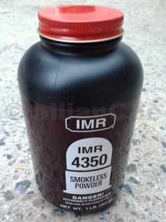 STŘELNÝ PRACH IMR 4350 - 454g / 1LB IMR 4350 střelný prach pro přebíjení puškového střeliva krátké magnumové ráže - WINCHESTER i REMINGTON