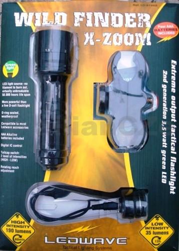 LEDWAVE X-ZOOM - Wild Finder - GREEN LIGHT LEDWAVE FILD FINDER X-ZOOM