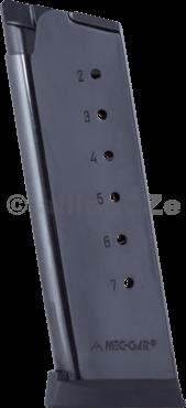 """zásobník MEC-GAR officers .45 ACP / 1911 """" 7ran - blued Mec-Garzásobník jednořadý pro pistole 1911OFFICERS modely.45ACP - 7ran ITEM: MGCO4507BPF-blued"""