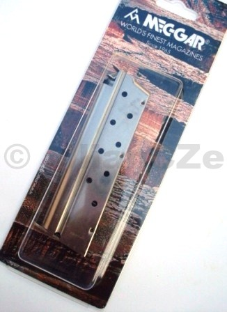 "zásobník MEC-GAR 9mm / 1911 "" 9ran - nickel Mec-Garzásobník jednořadý pro pistole 1911Goverment9mm - 9ran bez botky-nickel"