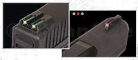 MÍŘIDLA TRUGLO GLOCK low FO celokovová mířidlas optickými vláknypro modely Glock 17/17L