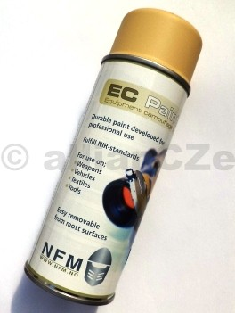 Barva maskovací - EC PAINT (NFM) 400ml spray - SAND KHAKI EC PAINT - SAND KHAKI MASKOVACÍ BARVA - žlutá pískováITEM: NFM013Důvodem pro vývoj a výrobu kamuflážových barev EC-PAINTna zbraně a výstroj byly narůstající požadavky vojenských jednotekna odstranitelné