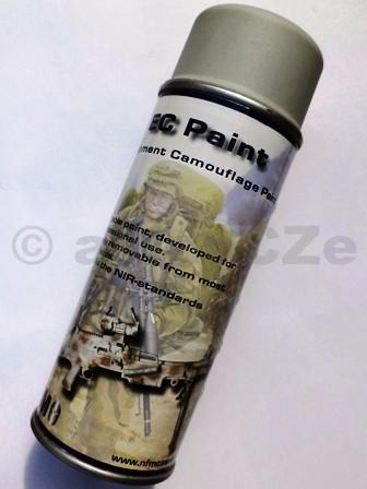 Barva maskovací - EC PAINT (NFM) 400ml spray - ŠEDÁ EC PAINT - GREY MASKOVACÍ BARVA - ŠEDÁITEM: NFM015Důvodem pro vývoj a výrobu kamuflážových barev EC-PAINTna zbraně a výstroj byly narůstající požadavky vojenských jednotekna odstranitelné