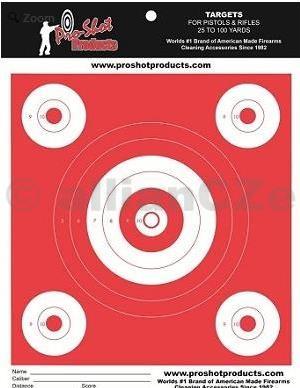 Terč - Pro-Shot Products Day Glo Orange OG-2 Heavy Paper - 12ks Pro-Shot Products