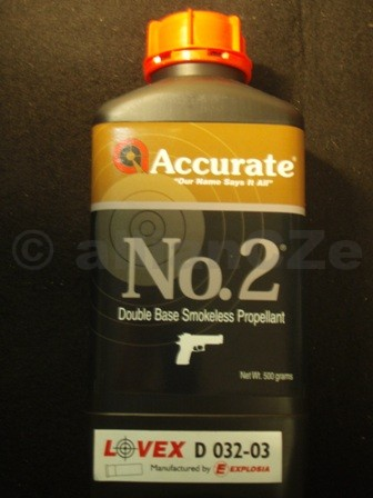 STŘELNÝ PRACH ACCURATE NO 2 bezdýmý dvousložkový prach pistolový