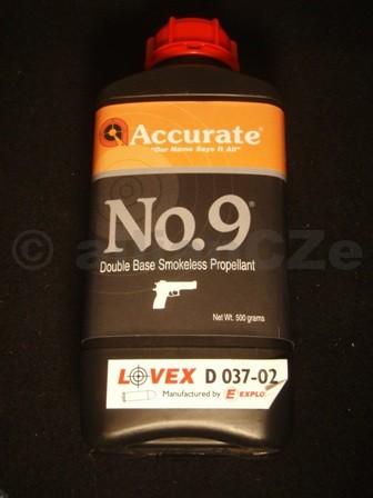 STŘELNÝ PRACH ACCURATE NO 9 bezdýmý dvousložkový prach pistolový