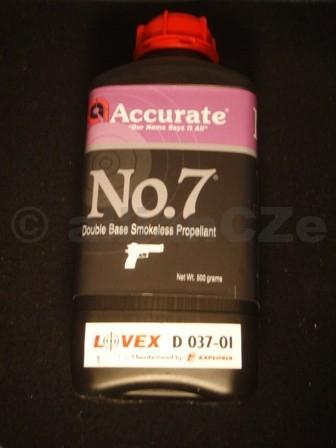 STŘELNÝ PRACH ACCURATE NO 7 bezdýmý dvousložkový prach pistolový