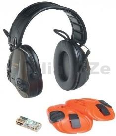 """sluchátka střelecká elektronická PELTOR SportTac MT16H2 špičková střelecká """"elektronická"""" sluchátka PELTOR SportTac MT16H2-hnědozelené provedení + oranžové bezpečnostní výměnné"""