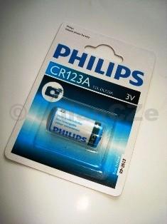 baterie PHILIPS CR123A 3V lithiové baterie PHILIPS CR123A 3V