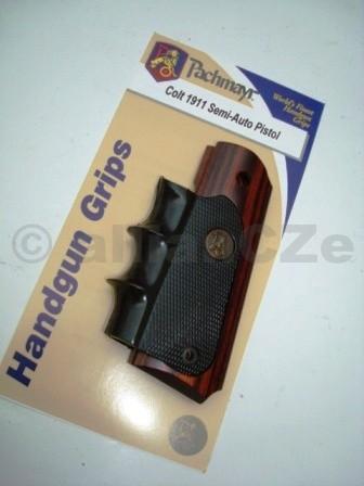Pachmayr® Handgun Grip - SEMI-AUTO 1911 / American Legend Pachmayr American Legend gripvšechny modely a ráže pistolí 1911Luxusní grip pro všechny pistole 1911všech ráží od Pachmayr -kombinace kaučuk + dřevo změní vzhled i ovládánízbraně na novou úroveň.Pachmayr's American Legend SeriesT offers youthe best of both worlds