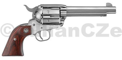 Revolver RUGER Vaquero® Stainless KNV 35 .357/.38 Ruger Vaquero® Stainless NV 35 .357 Mag ITEM: 5108Řada revolverů Ruger New Vaquero si drží dominantní postavení v akční střelbě a má pověst spolehlivých zbraní díky své pevné a mechanicky odolné konstrukci.Ráže .357 Mag.Délka hlavně 140 mmKapacita válce 6Mířidla drážkaPovrchová úprava leštěný nerezvíce zde
