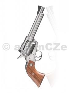 """Revolver RUGER KNR 5 .22LR / .22 WMR MalorážkovýRUGER .22 LR revolverv klasickém """"RUGERovském"""" kabátěs alternativním válcem pro .22 WMR.PRODEJ NA ZP !Ráže .22 LR / .22 WMRKapacita válce 6 Délka hlavně 140 mm Mířidla seřiditelné hledí Povrchová úprava satin nerez Robustní"""