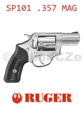 """Revolver RUGER KSP 321x (SP101) .357/.38 RugerSP101 - KSP 321x (DA)Specifikace - základní:Ráže .357/.38 Kapacita válce5 Délka (hlavně) 2 1/4"""" Mířidla pevnáPovrchová úpravasaténový nerez Prodej na ZP"""