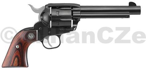 Revolver RUGER Vaquero® Blued NV 35 .357/.38 Ruger Vaquero® Blued NV 35 .357 Mag ITEM: 5106Řada revolverů Ruger New Vaquero si drží dominantní postavení v akční střelbě a má pověst spolehlivých zbraní díky své pevné a mechanicky odolné konstrukci.Ráže .357 Mag.Délka hlavně 5