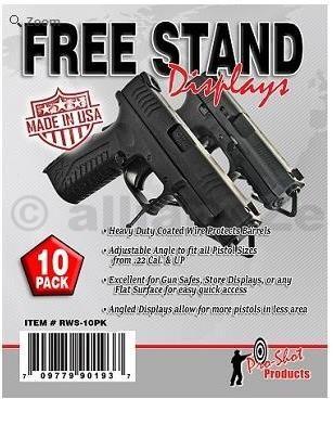 Stojany pro krátké zbraně - Pro-Shot Products - Pistol Free-Stand Display - 10 Pack Pro-Shot Products