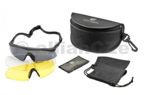 brýle střelecké - Revision Sawfly MaxWrap set - Yellow - Large / 3 lenses REVISION Sawfly MaxWrap set Yellow - LargeBlack frame / rámClear